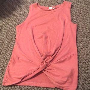 Gap— pink knot tank top